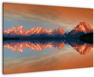Grand Teton National Park wanddecoratie. Renate Knapp, WaldundWiesenfee, plaats om te gaan, nationaal park, zonsopgang, bergen, USA, Amerika, Verenigde Staten, Lake, Grand Teton National Park, Wyoming, Yellowstone Park, Snake River, Jackson Hole Mountain Lake Jackson Lake Jackson Lake, zonsopgang, AVONTUUR, AMERIKA, bergen, rivier, gletsjer, GRAND TETON GRAND TETON NP, mOUNTAIN, PARK VAN DE STAAT, PANORAMA, bezinning, sneeuw, SCHWABACHER's Landing, SPIEGELBEELD, WATER, WILD, Teton bergketen