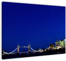 London by Night wanddecoratie. London by Night, zicht op onder andere The Tower Bridge